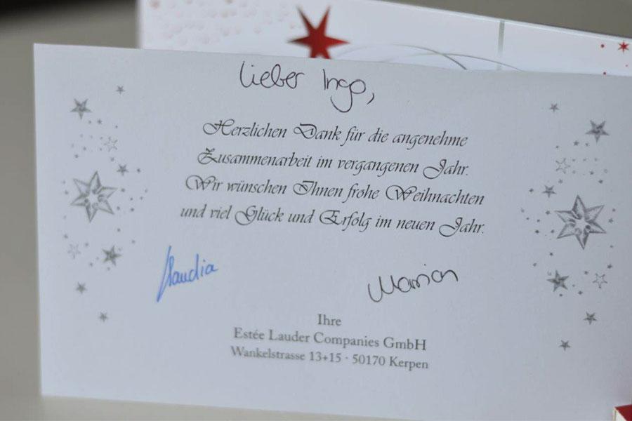 Weihnachtsfeier von Estee Lauder